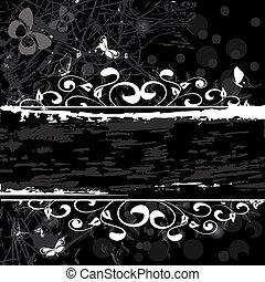 grunge, mönster, baner