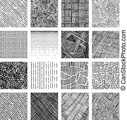 grunge, mönster, seamless, struktur, skuggning, grov