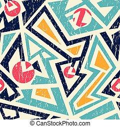 grunge, mönster, stam, seamless