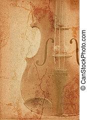 grunge, música, violino, antigas, fundo