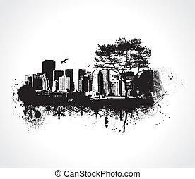 grunge, město