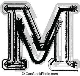 Grunge,  M, fuente, carta