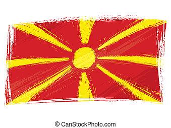 Grunge Macedonia flag