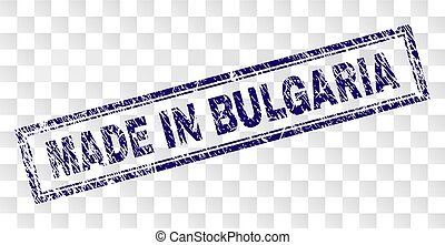 Grunge MADE IN BULGARIA Rectangle Stamp