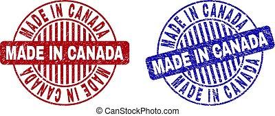 Grunge MADE IN CANADA Scratched Round Stamp Seals