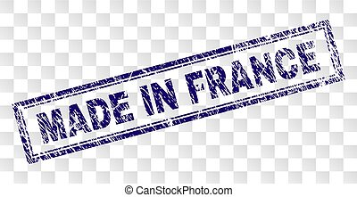 Grunge MADE IN FRANCE Rectangle Stamp