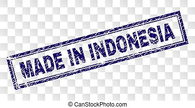 Grunge MADE IN INDONESIA Rectangle Stamp