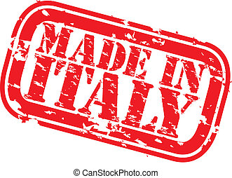 Grunge made in Italy rubber stamp,