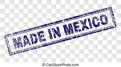 Grunge MADE IN MEXICO Rectangle Stamp
