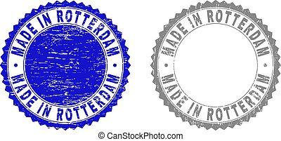 Grunge MADE IN ROTTERDAM Textured Watermarks