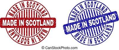 Grunge MADE IN SCOTLAND Scratched Round Stamp Seals