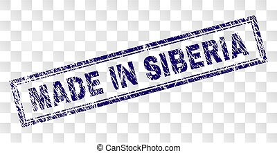 Grunge MADE IN SIBERIA Rectangle Stamp - MADE IN SIBERIA...