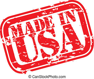 Grunge made in USA rubber stamp, ve