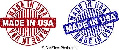 Grunge MADE IN USA Textured Round Stamp Seals