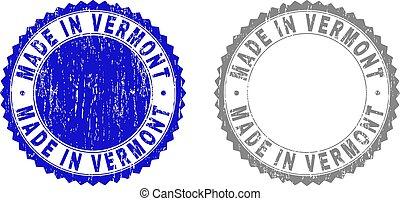 Grunge MADE IN VERMONT Textured Stamp Seals