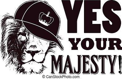 grunge, majesty., illustration, vecteur, oui, ton