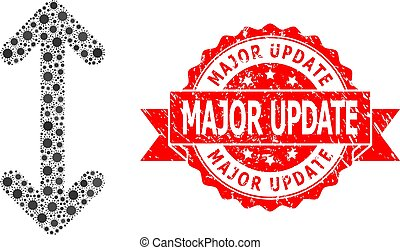 Grunge Major Update Seal and Virus Mosaic Swap Arrows Vertically