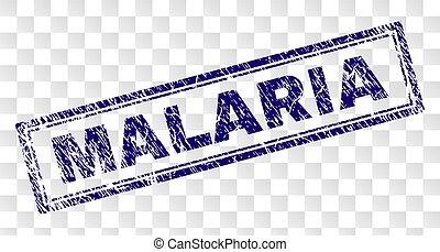 Grunge MALARIA Rectangle Stamp