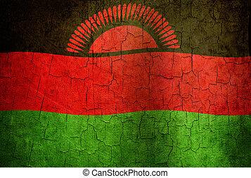 Grunge Malawi flag