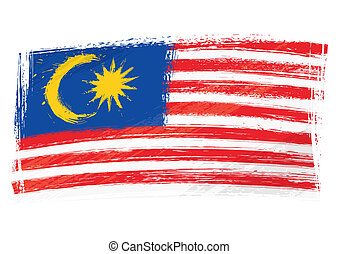 Grunge Malaysia flag