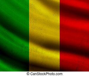 Grunge Mali flag