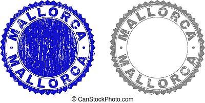 Grunge MALLORCA Textured Stamp Seals - Grunge MALLORCA stamp...