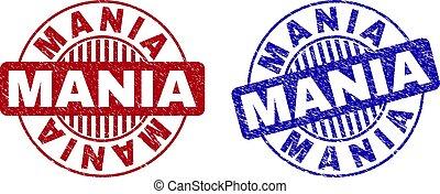 Grunge MANIA Textured Round Watermarks
