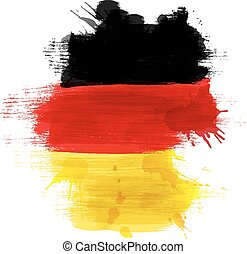 Grunge map of Germany with German flag