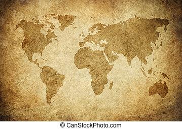 grunge, mapa mundial