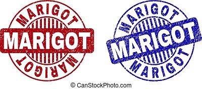 Grunge MARIGOT Textured Round Stamps