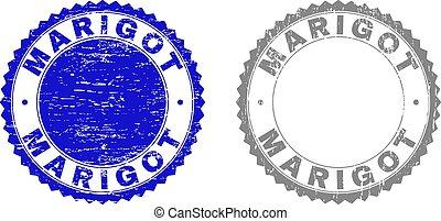 Grunge MARIGOT Textured Stamps