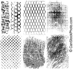 Collection of high detail vector metal textures illustrations
