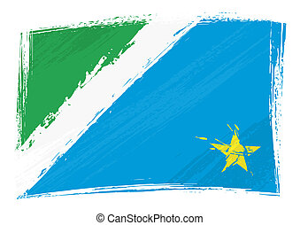 Grunge Mato Grosso do Sul flag - Brazilian state Mato Grosso...