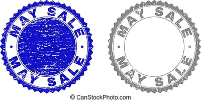 Grunge MAY SALE Textured Stamp Seals