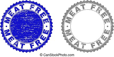 Grunge MEAT FREE Textured Watermarks