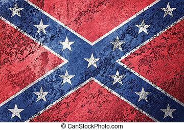 grunge, medbrottsling, flag., statsförbund, flagga, med, grunge, texture.