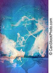 grunge, media, abstract, collage, textuur, achtergrond, ...