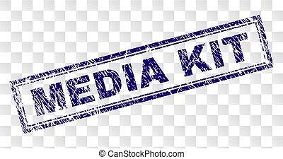 Grunge MEDIA KIT Rectangle Stamp