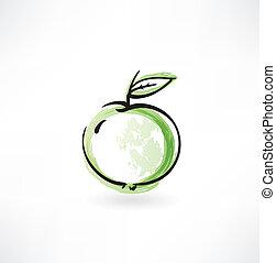 grunge, mela, icona