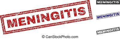 Grunge MENINGITIS Scratched Rectangle Watermarks