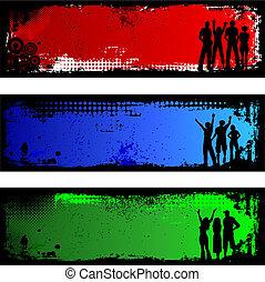 grunge, mensen, achtergronden
