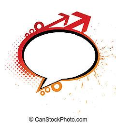 Grunge messenger window icon vector illustration isolated on...