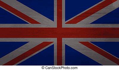 Grunge messy flag kingdom of Great Britain