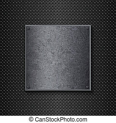 Grunge metal background - Metallic background with a grunge...