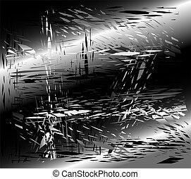 Grunge metal black background