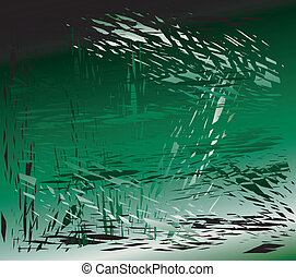 Grunge metal green background