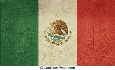Grunge Mexico Flag