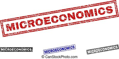 Grunge MICROECONOMICS Scratched Rectangle Watermarks - ...