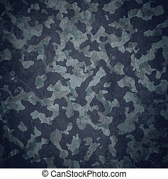 Grunge military background. Camouflage pattern over american flag, scratched