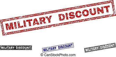 Grunge MILITARY DISCOUNT Textured Rectangle Watermarks